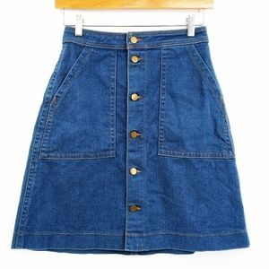American Apparel '70s Style Button Front Skirt